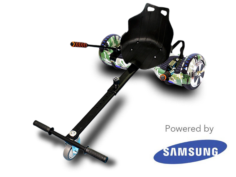 FLY Plus Urban Green Camo and Kart By HOVERBOARD