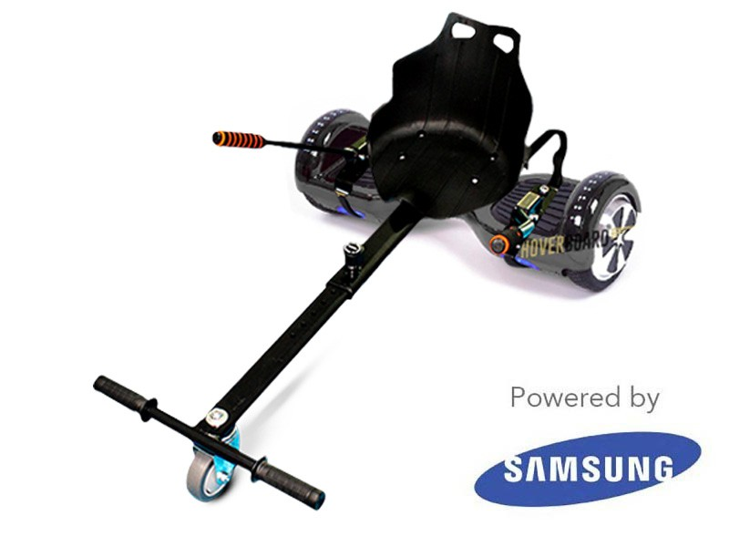 FLY Plus Black Chrome and Kart By HOVERBOARD