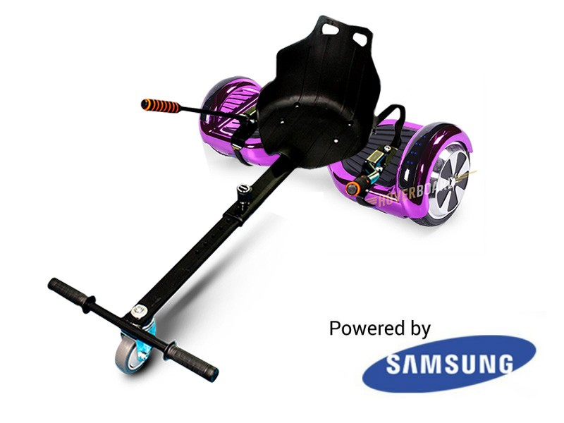 FLY Plus Purple Chrome And Hover Kart Deal BY HOVERBOARD