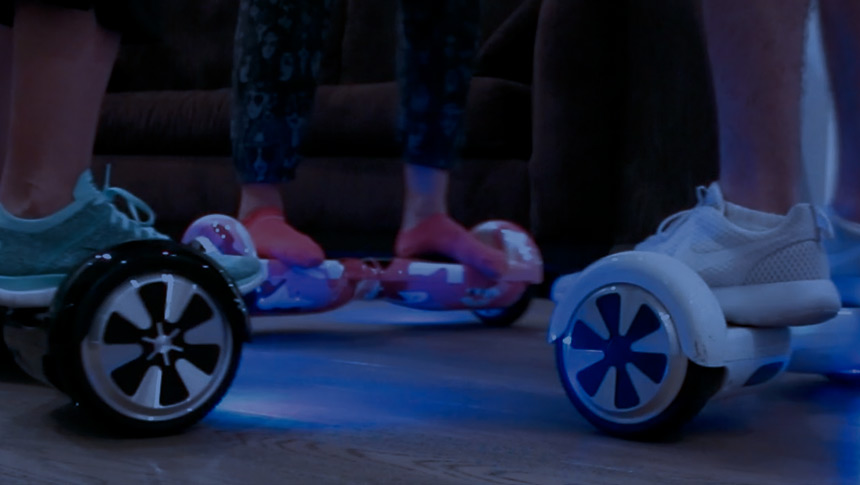 How has the hoverboard come into pop culture.
