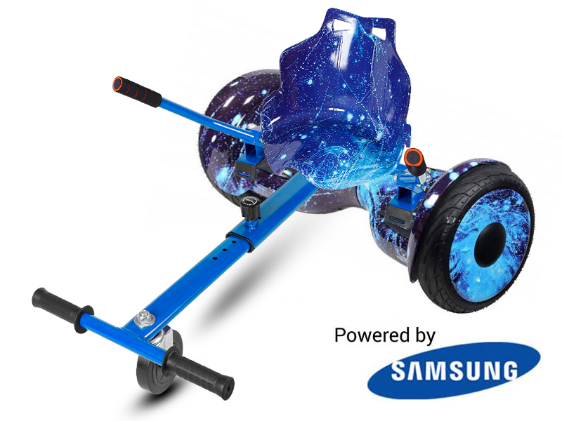 Monster Blue Galaxy with Blue Galaxy Kart By HOVERBOARD
