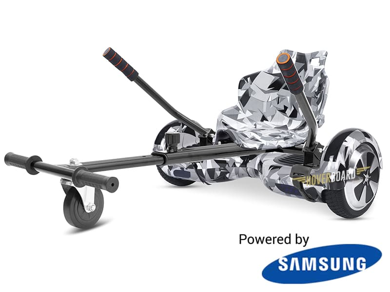 Fly Plus White Camo with White Camo Hoverkart