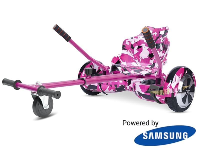 Fly Plus Pink Camo with Pink Camo Hoverkart