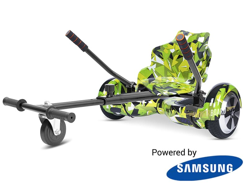 FLY Plus Urban Green Camo With Kart Deal By HOVERBOARD