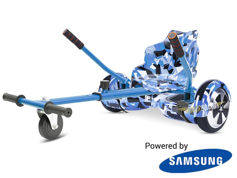 FLY Plus Urban Blue Camo With Kart Deal BY HOVERBOARD