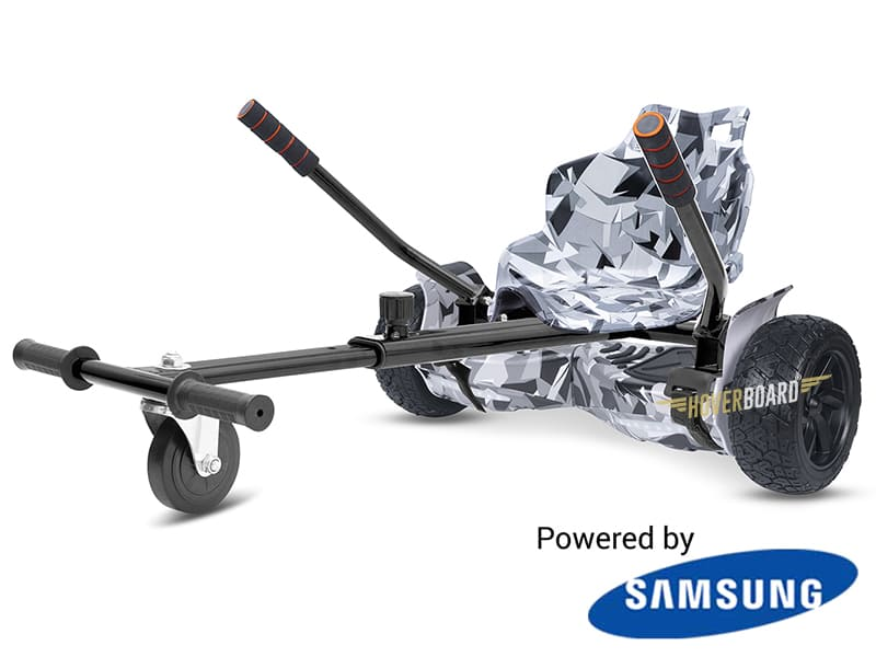 Drifter White Camo with White Camo Kart By HOVERBOARD