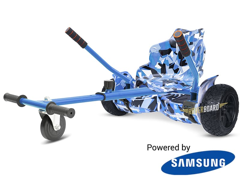 Drifter Blue Camo with Blue Camo Kart By HOVERBOARD