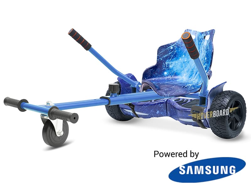 Drifter Blue Galaxy with Blue Galaxy Kart By HOVERBOARD