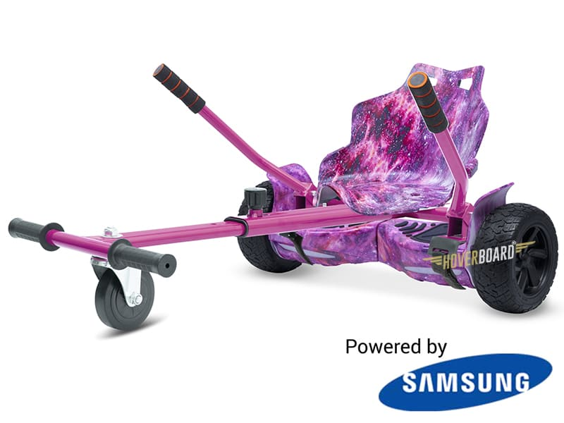 Drifter Pink Galaxy with Pink Galaxy Kart By HOVERBOARD