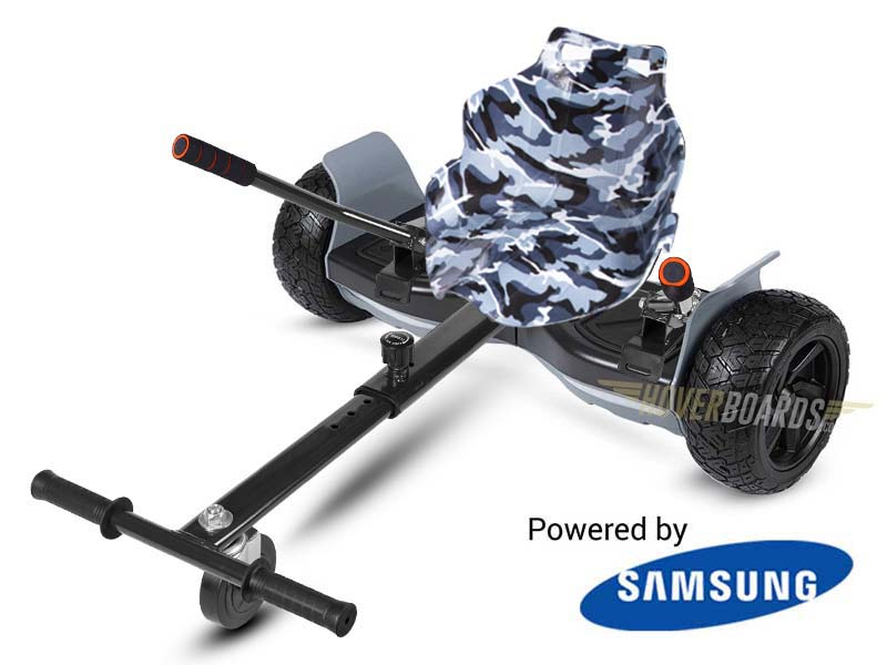 Drifter black With Black Camo Kart By Hoverboard