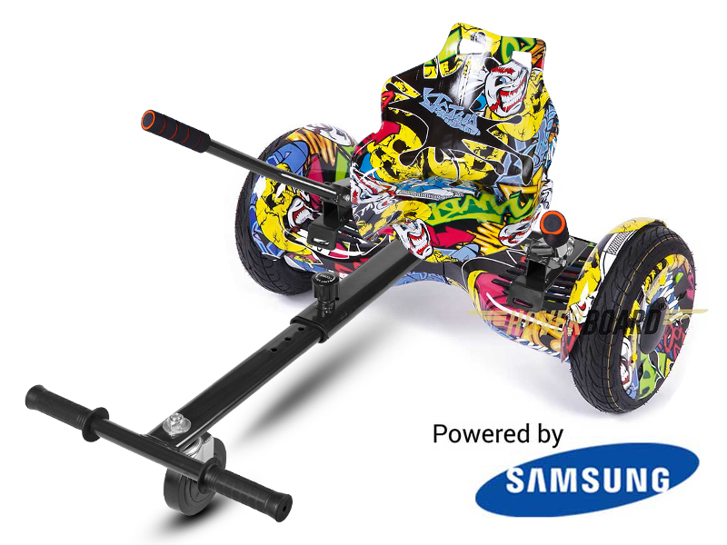 Monster Urban Graffiti With Urban Graffiti Kart By Hoverboard